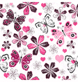 Grunge valentine seamless pattern vector image vector image