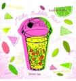 Hand drawn Bubble tea vector image vector image