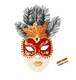 hand drawn venetian carnival face mask vector image