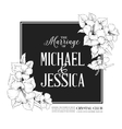 Hibiscus flower frame vector image vector image