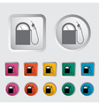 Icon gas station vector image