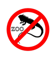 Iguana in zoo prohibited vector image