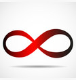 infinity symbol abstract logo vector image