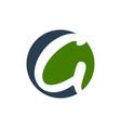 initial g lettermark circular shape symbol design vector image vector image