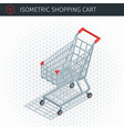 isometric empty shopping cart vector image