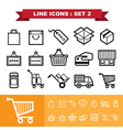 Line icons set 2 vector image