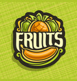 logo for set fresh fruits vector image