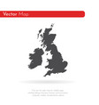 map great britain isolated vector image vector image