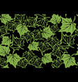 maple leaf green seamless pattern background vector image