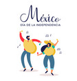 mexico independence day mexican people at party vector image