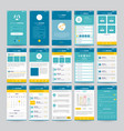 mobile screens with ui set vector image