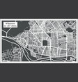 ndjamena chad city map in retro style outline map vector image vector image