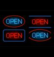neon open set vector image