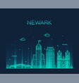 newark skyline new jersey usa linear style vector image vector image
