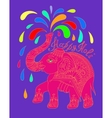original greeting card Happy Holi design with vector image vector image