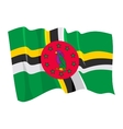 Political waving flag of dominica vector image