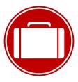 Portfolio symbol button vector image vector image