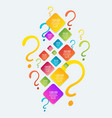 question signs colorful vector image vector image