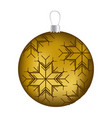 realistic golden garland christmas with snowflakes vector image vector image