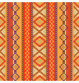 red and orange ethnic pattern vector image vector image