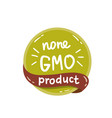 round green label with text non gmo product vector image vector image