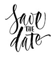 save the date lettering vector image
