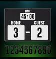 scoreboard stadium electronic sports display vector image vector image