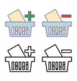 shop basket icons vector image vector image