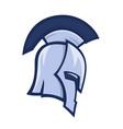 spartan helmet greek warrior logo element vector image