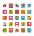 sports and games flat icons set 4 vector image vector image