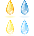 Stylized drop of oil and water vector image vector image