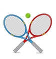 Tennis racket isolated on white vector image vector image