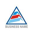 triangle data technology company logo vector image vector image
