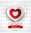 valentine background with heart and message vector image