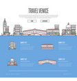venice city travel vacation guide vector image