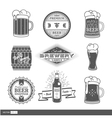 Vintage set with brewery labels vector image