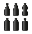 Water Bottle Icon Set on White Background vector image vector image
