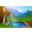 Water spring vector image
