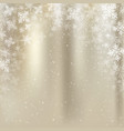 winter golden background christmas made of vector image vector image