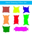 with hand drawing pillows set vector image vector image