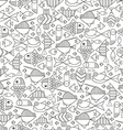 Seamless marine fish vector image