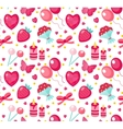 Cute seamless pattern Valentines day with vector image