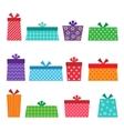 Set of presents vector image