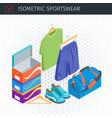 isometric sportswear set vector image