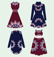 Set of women fashion dresses vector image