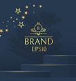3d elegant podium with gold stars realistic