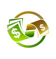 abstract dollar or money gradient color design vector image
