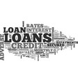 adverse credit loans text word cloud concept vector image vector image