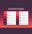 advertising infographic 10 option templatemarket vector image vector image
