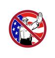 american border security no entry sign vector image vector image